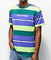 Odd Future camiseta menta y morada de rayas