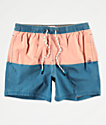 Party Pants Corsair shorts de baño rojos y azules