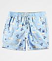 Party Pants Moby shorts de baño en azul claro