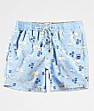 Party Pants Moby shorts de baño en azul claro