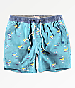 Party Pants Tan Bananas shorts de baño azules