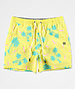 Party Pants Testarossa shorts de baño amarillos