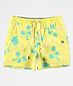 Party Pants Testarossa shorts de baño amarillos