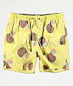 Party Pants Weekender shorts de baño amarillos