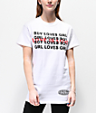 Petals and Peacocks Love Is Love White T-Shirt