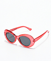 Petals and Peacocks Nevermind Clear Red Sunglasses