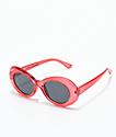 Petals and Peacocks Nevermind gafas de sol rojas transparentes