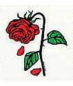 Petals and Peacocks Petal Rose pegatina