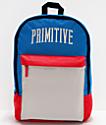 Primitive Collegiate Arch Homeroom mochila negra y roja