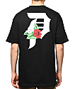 Primitive Dirty P Dos Flores camiseta negra