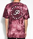Primitive Orbit camiseta en color borgoño con efecto tie dye