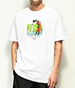 Primitive x Dragon Ball Z Goku & Frieza camiseta blanca