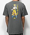 Primitive x Dragon Ball Z Super Saiyan Goku camiseta gris