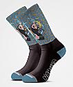 Primitive x Naruto Combat Blue Crew Socks