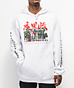 Primitive x Naruto Leaf Village White Hoodie