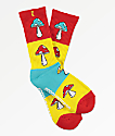 Psockadelic Andy Red, Yellow & Blue Crew Socks