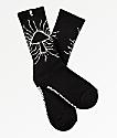 Psockadelic Metal Mushroom calcetines negros y blancos