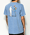 RIPNDIP Burn camiseta con lavado azul mineral