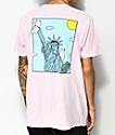 RIPNDIP Liberty Pink Mineral Wash T-Shirt