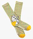 RIPNDIP Lord Nermal Gold Rainbow Crew Socks