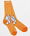 RIPNDIP Lord Nermal Orange Speckle Crew Socks