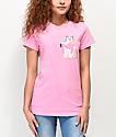 RIPNDIP Lord Nermal camiseta con bolsillo de camuflaje rosa
