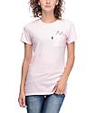 RIPNDIP Lord Nermal camiseta con bolsillo en rosado claro