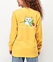 RIPNDIP Nermal Romantic Rose camiseta de manga larga dorada