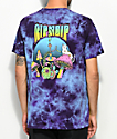 RIPNDIP Psychedelic Purple Acid Wash Pocket T-Shirt