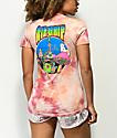 RIPNDIP Psychedelic camiseta con bolsillo y lavado acido coral