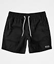 RVCA Gerrard shorts de baño negros de cintura elástica