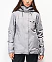 Roxy Billie 10K  chaqueta de snowboard gris claro