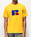 Russell Athletic Jerry Flocked Gold T-Shirt