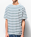 Salty Crew Pacifical Blue, Yellow & White Striped T-Shirt