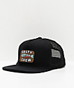 Salty Crew Paddle Tail Black Trucker Hat