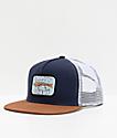 Salty Crew Paddle Tail gorra de camionero azul marino y marrón