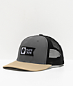 Salty Crew Pinnacle Retro Charcoal Trucker Hat