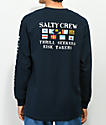 Salty Crew Signals Navy Long Sleeve T-Shirt