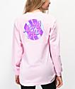 Santa Cruz Brush Dot camiseta rosa de manga larga