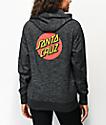 Santa Cruz Classic Dot Baja sudadera con capucha negra