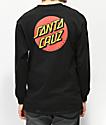 Santa Cruz Classic Dot Black Long Sleeve T-Shirt