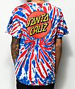 Santa Cruz Classic Dot Union Jack camiseta con efecto tie dye