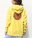 Santa Cruz Classic Dot sudadera con capucha amarilla