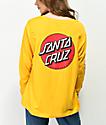 Santa Cruz Convert camiseta de manga larga dorada