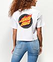 Santa Cruz Flaming Dot camiseta corta blanca
