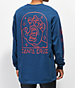 Santa Cruz Gateway Hand Harbor camiseta azul de manga larga