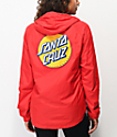 Santa Cruz Other Dot Red Windbreaker Jacket