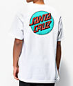 Santa Cruz Other Dot camiseta blanca y verde azulado