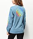 Santa Cruz Rainbow Fade camiseta azul de manga larga
