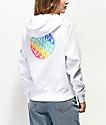Santa Cruz Rainbow Fade sudadera con capucha blanca